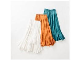 【Pickup♪】展示会人気No.1‼カタログ掲載のリネンシワ加工スカートが入荷しました♪